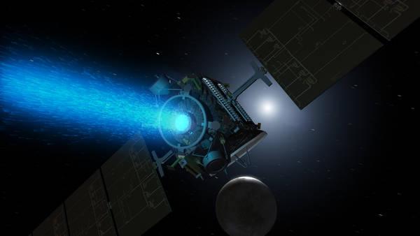 La sonda Dawn in orbita attorno Cerere (fonte: NASA/JPL-Caltech)