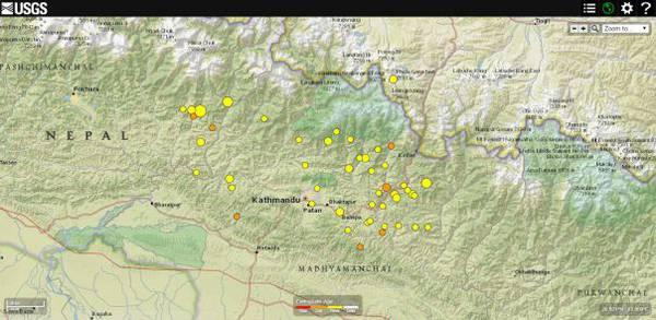 Cartina Mondo Nepal.La Mappa Sismica Del Nepal Terra E Poli Scienza Tecnica Ansa It