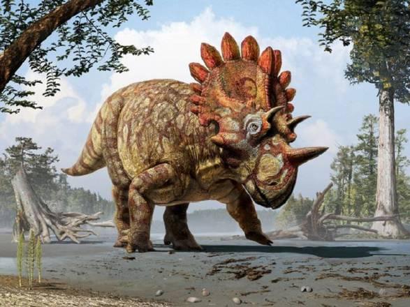 Rappresentazione artistica del dinosauro Hellboy (fonte: Julius T. Csotonyi/Royal Tyrrell Museum, Drumheller, Alberta)