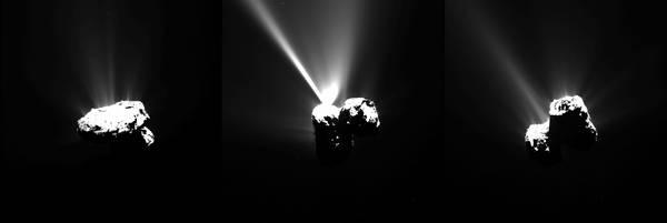 L'avvicinamento al Sole della cometa 67P/Churyumov–Gerasimenko (fonte: ESA/Rosetta/MPS for OSIRIS Team MPS/UPD/LAM/IAA/SSO/INTA/UPM/DASP/IDA)