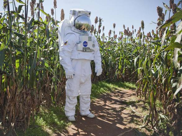 In vista dei lunghi viaggi verso Marte, si pensa alle coltivazioni in ambienti estremi (fonte: NASA/Sean Smith)