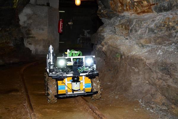 Il robot minatore Alexander (fonte: Mining-ROX)