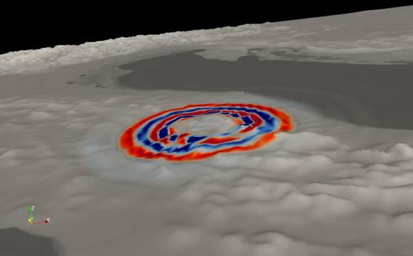 La propagazione delle onde sismiche del terremoto del 30 ottobre (dal sito Ingv)
