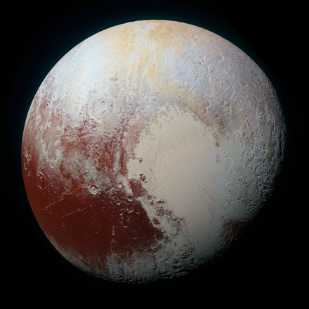Un oceano ghiacciato si troverebbe sotto la superficie di Plutone (fonte: NASA/JHUAPL/SWRI)