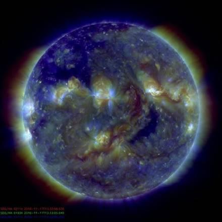 Il Sole diventa silenzioso, si avvicina all'attività minima (fonte: SDO, NASA)