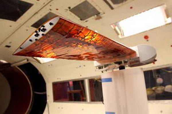 L'ala che cambia forma e inclinazione realizzata dalla Nasa (fonte: NASA/Kenneth Cheung)