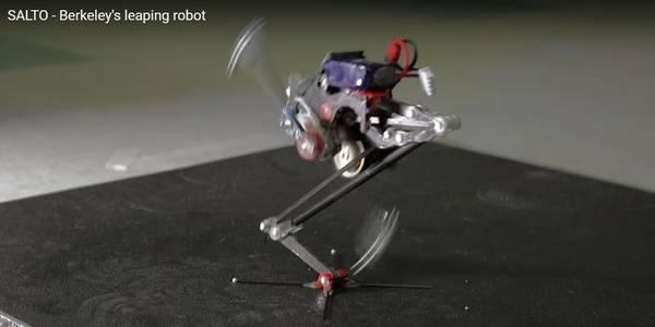 Salto, il robot capace di saltare e arrampicarsi sui muri, superando ostacoli e terreni difficili (fonte: Roxanne Makasdjian e Stephen McNally)