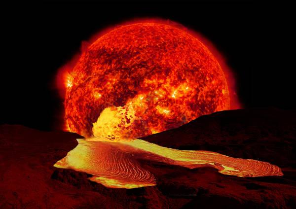 Quando il Sole invecchierà, diventando una gigante rossa, la vita sulla Terra sarà impossibie (fonte: Maxwell Hamilton)