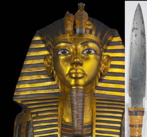 Il pugnale di Tutankhamon modellato da un meteorite