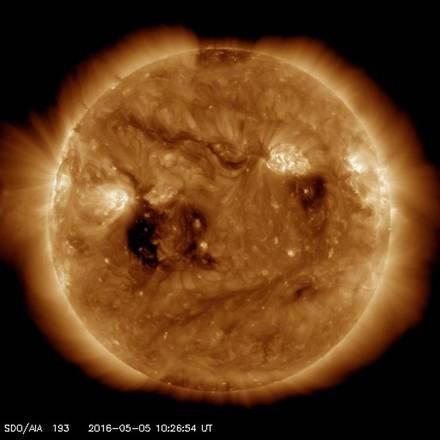 Sul Sole le macchie sono localizzate intorno all'Equatore (fonte: NASA)