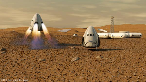 Space X pronta a mandare l'uomo su Marte nel 2024