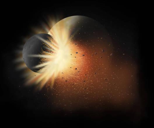 Un pianeta in formazione, e non un asteroide, ha colpito la Luna 4 miliardi di anni fa (fonte: LPI, Leanne Woolley)