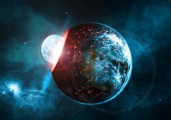 Un impatto violentissimo fra la Terra e un piccolo pianeta ha dato origine alla Luna