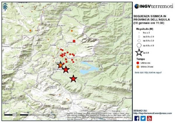 Terremoto, paura per 4 forti scosse nel Centro Italia, scuole evacuate. Magnitudo tra 5.1 e 5.5