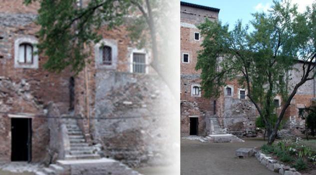 Il giardino dei monaci olivetani a S. Maria Nova sull'Appia Antica