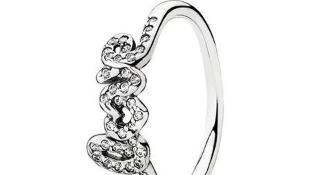 anello pandora scritta love