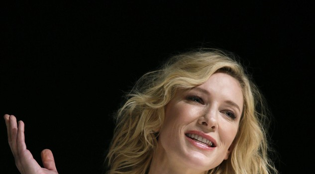 Australian actress Cate Blanchett attends a talk session in Tokyo