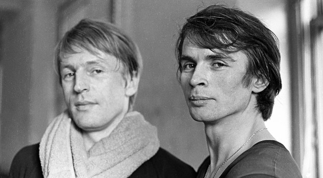Nureyev Bruhn Rudolf Nureyev and Erik Bruhn practice together at American Ballet Theatre rehearsal space, January 20, 1965. (Photo by Jack Mitchell/Getty Images)