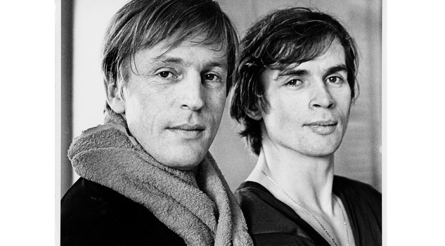 - Nureyev Bruhn Rudolf Nureyev and Erik Bruhn photographed January 20, 1962. (Photo by Jack Mitchell/Getty Images)