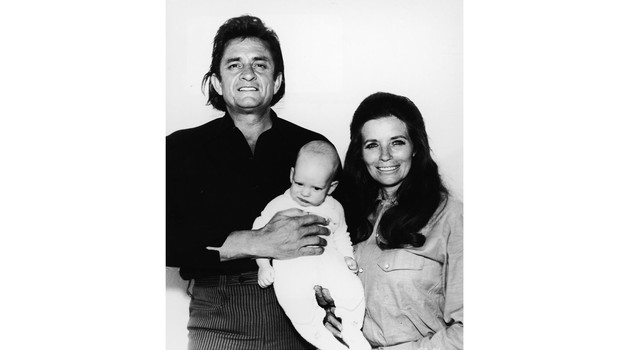American country musicians Johnny Cash and his wife June Carter Cash (1929 - 2003) with their infant son John Carter Cash(Photo by Paramount Pictures/Courtesy of Getty Images)