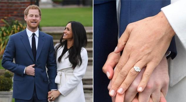 Harry e Meghan Markle mano nella mano, e lei mostra l'anello