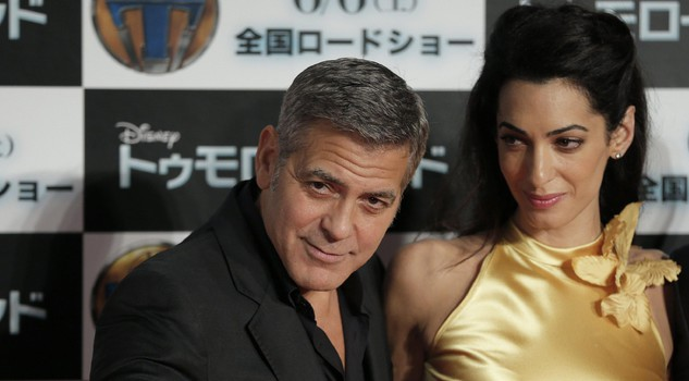 Amal Clooney and George a Tokyo nel 2015