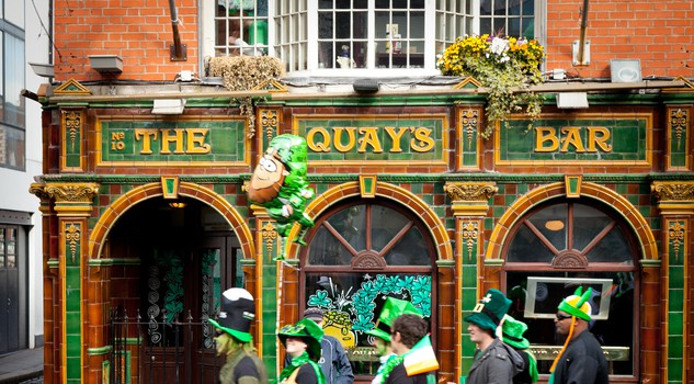 St. Patrick's Day al Temple Bar di Dublino