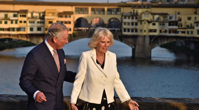 Prince Charles and Camilla arrive in Florence