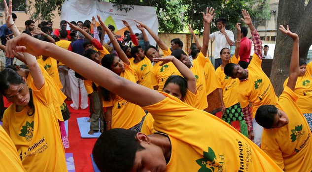 Yoga for blind students in Bangalore