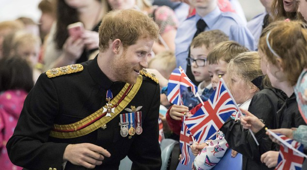 Prince Harry presents RAF Regiment with a new Queen's Colour