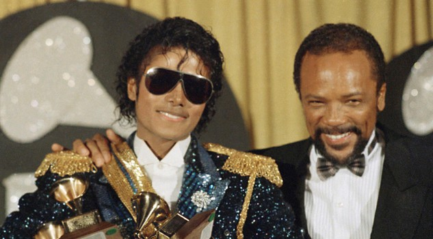 Michael Jackson and Quincy Jones in una foto del 1984