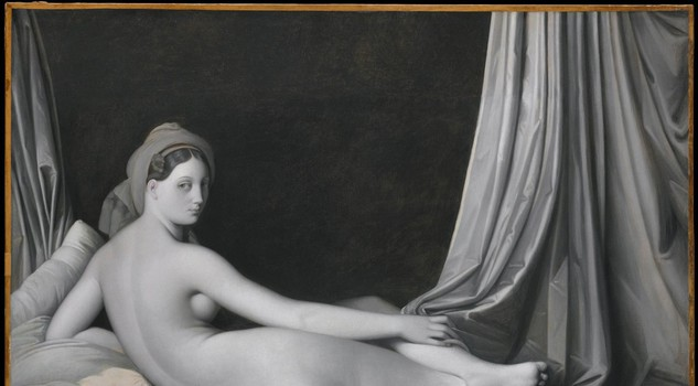 Monochrome: Painting in Black and White : Odalisque in Grisaille Jean-Auguste-Dominique Ingres and workshopabout 1824-34