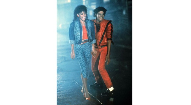 Michael Jackson con Ola Ray in Thriller