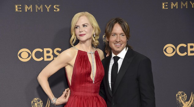 Nicole Kidman, left, and Keith Urban arrives at the 69th Primetime Emmy Awards on Sunday, Sept. 17, 2017, at the Microsoft Theater in Los Angeles