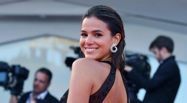 Brazilian model Bruna Marquezine arrives for the premiere of 'The Leisure Seeker' at the 74th Venice Film Festival in Venice, Italy