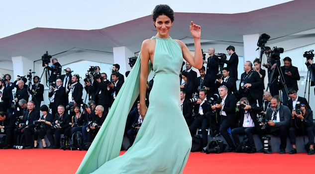 Italian actress Giulia Bevilacqua arrives for the premiere of 'The Leisure Seeker' at the 74th Venice Film Festival in Venice,