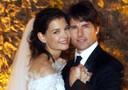 Tom Cruise e Katie Holmes il giorno del loro matrimonio durante una cerimonia da fiaba nel castello Odescalchi di Bracciano il 19 novembre 2006