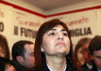 La candidata alla regione Lazio Renata Polverini