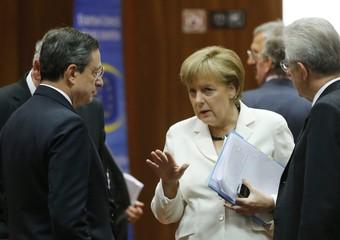 Angela Merkel, Mario Draghi e Mario Monti