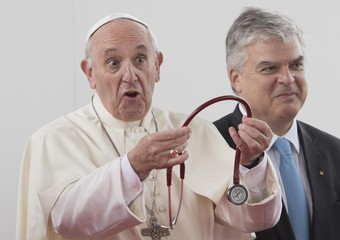 Pope Francis attends the Congress of the European Society of Cardiology