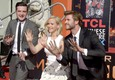 Le star di Hunger Games e le 'impronte' al TCL Chinese Theatre a Hollywood © Ansa