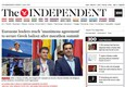 La home page di The Independent © Ansa