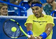 epa06150846 Rafael Nadal of Spain in action against Nick Kyrgios of Australia during their match in the Western & Southern Open tennis tournament at the Linder Family Tennis Center in Mason, Ohio, USA, 18 August 2017.  EPA/TANNEN MAURY (ANSA)