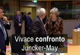 Vivace confronto Juncker-May (ANSA)