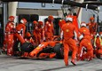 Il box Ferrari al momento dell'incidente ©
