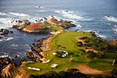 Cypress Point Club, storico campo da golf di Pebble Beach, in California (ANSA)