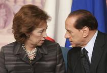 Silvio Berlusconi con l'ex sindaco di Milano, Letizia Moratti (archivio) (ANSA)