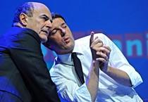 Pier Luigi Bersani e Matteo Renzi (ANSA)