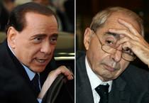 Silvio Berlusconi (S) e Giuliano Amato (ANSA)