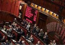 Tabellone elettronico della Camera con risultato del voto finale della legge di stabilita', Roma 30  novembre 2014. ANSA/GIUSEPPE LAMI (ANSA)